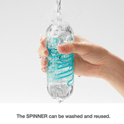 The SPINNER by TENGA can be washed and reused. Use with TENGA Lotion Lubricant specially designed for TENGA masturbation sleeves. TENGA Lotion makes SPINNERs feel like real sex and improves their longevity.