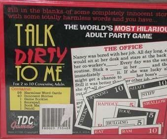 """Back of game box reads """"Fill in the blanks of some completely innocent stories with some totally harmless words and you have the world's most hilarious adult party game."""""""